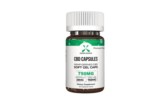 Green Roads CBD Soft Gel Capsules 750mg 30 Day Supply