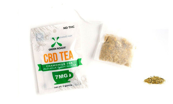 CBD Infused Chamomile Tea Singe