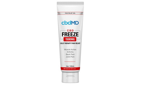 cbdMD CBD Freeze Pain Relief Squeeze Tube 1500mg