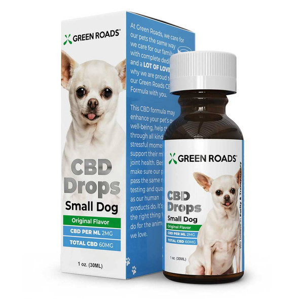 Small Pet 60mg CBD Oil Drops by Green Roads