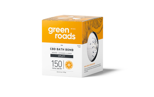 150mg Uplift CBD Bath Bomb by Green Roads