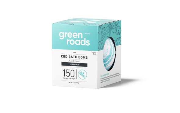 150mg Unwind CBD Bath Bomb by Green Roads