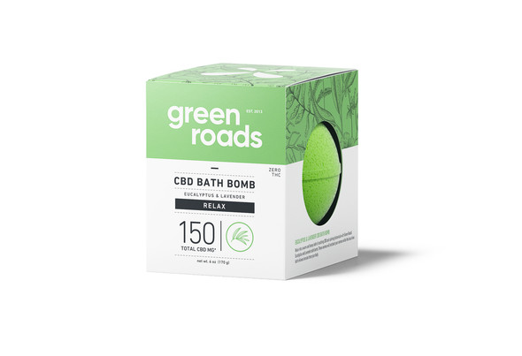 150mg Relax CBD Bath Bomb by Green Roads
