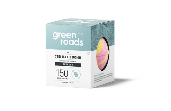 150mg Refresh CBD Bath Bomb by Green Roads