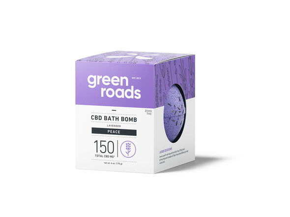150mg Peace CBD Bath Bomb by Green Roads