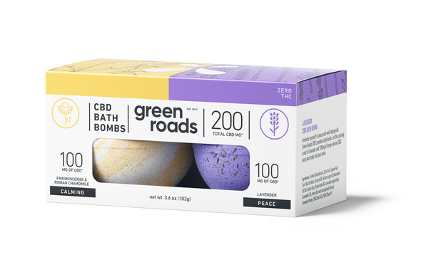 200mg Peace & Calming CBD Bath Bomb Duo by Green Roads
