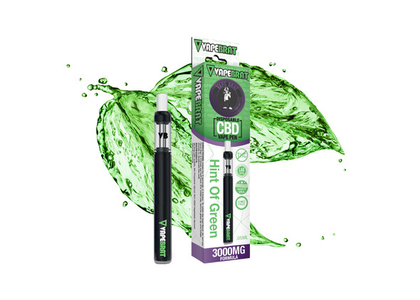 VapeBrat Disposable Pen: Hint of Green: 3000mg