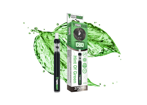 VapeBrat Disposable Pen: Hint of Green: 3750mg