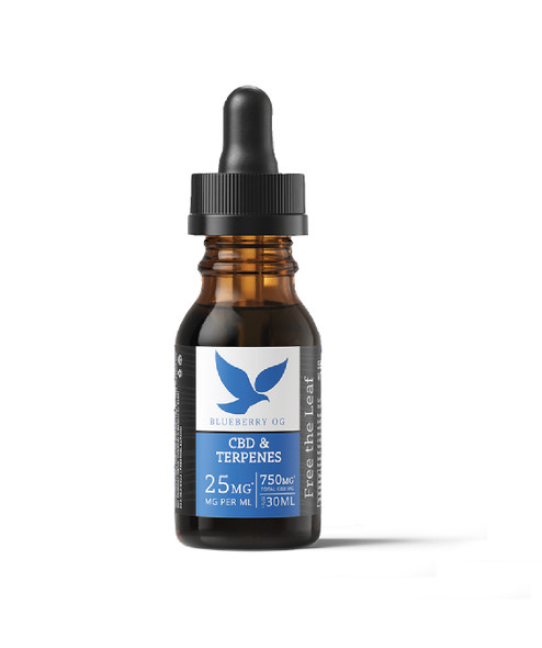 Terpene Infused OIl with 750mg CBD by Free the Leaf - Blueberry OG