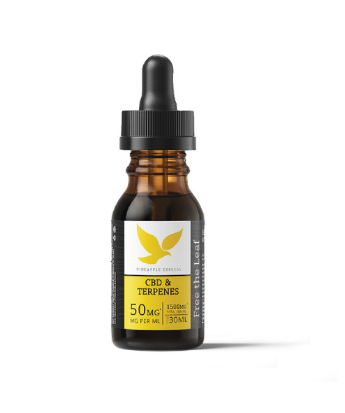 Terpene Infused OIl with 1500mg CBD by Free the Leaf - Pineapple Express