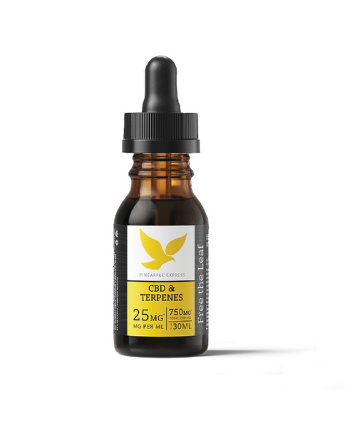 Terpene Infused OIl with 750mg CBD by Free the Leaf - Pineapple Express