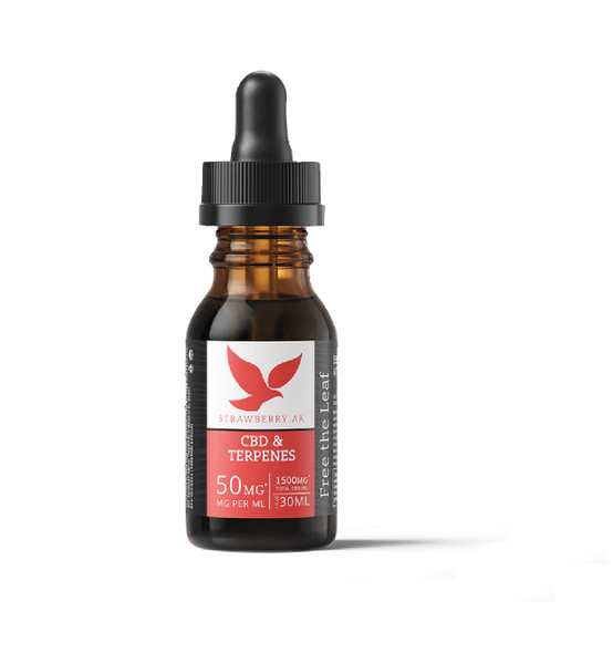 Terpene Infused OIl with 1500mg CBD by Free the Leaf - Strawberry AK