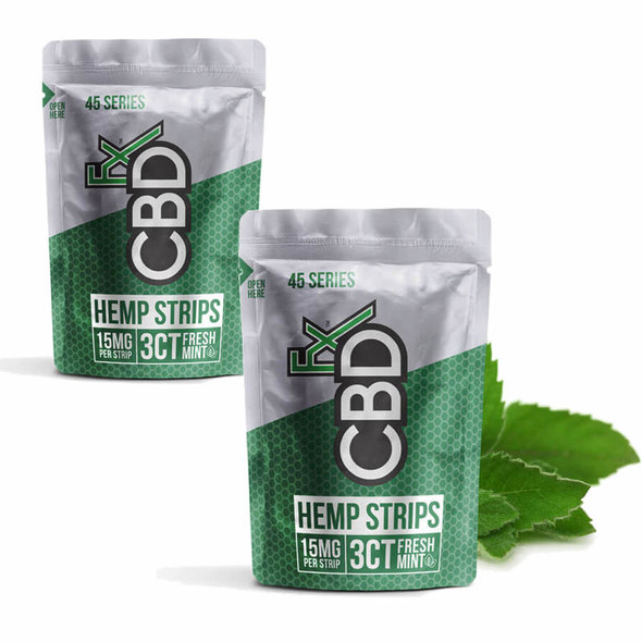 CBD Sublingual Fast Acting Dissolvable Strips - 45mg - Fresh Mint - 2 Pack