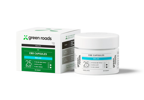 CBD Relax Capsules 25mg by Green Roads