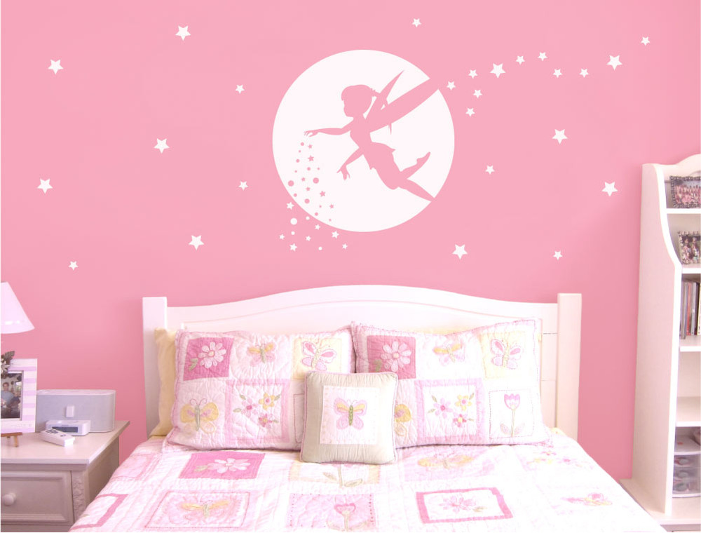 fairy-wall-sticker-white-on-pink-wall