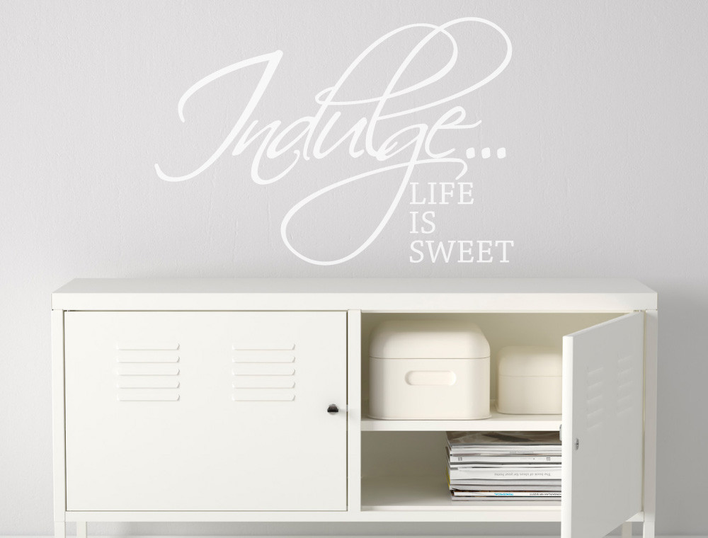 life is sweet vinyl wall quotes sticker white