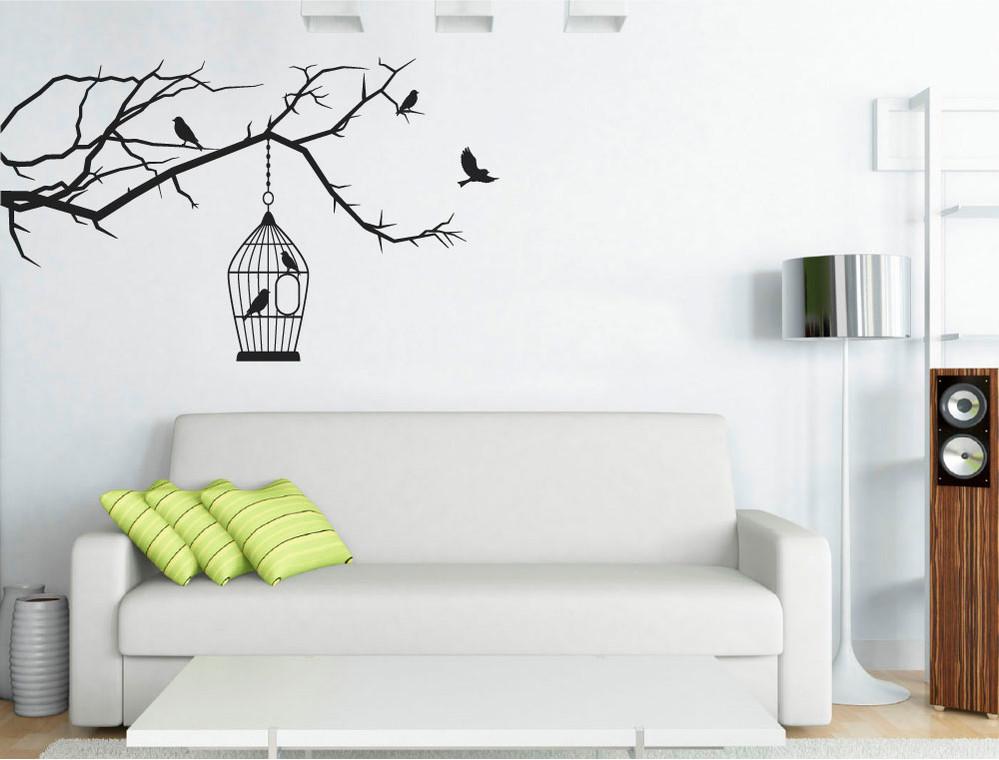 birdcage wall sticker black