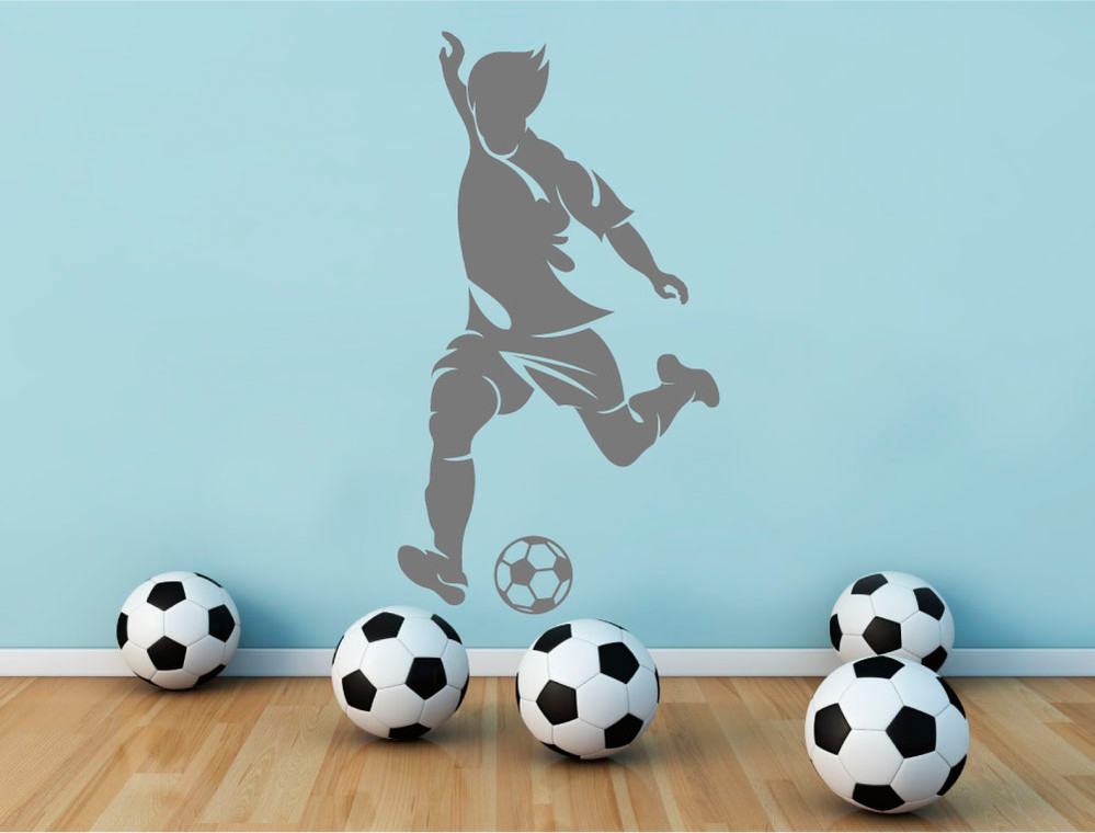 footballer-wall-sticker-grey