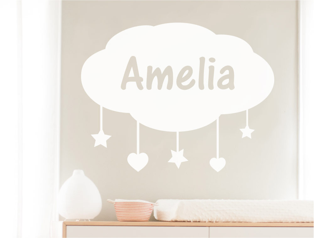 personalised-cloud-wall-decal-white