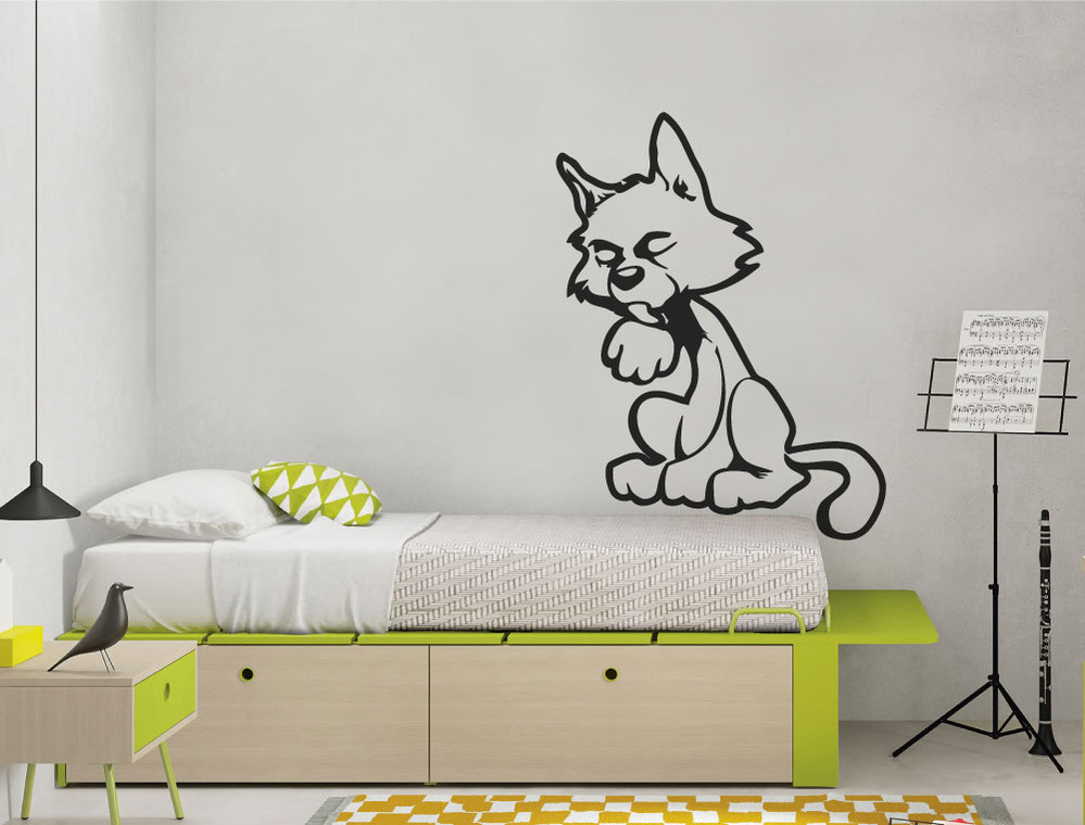 cat wall sticker for kids bedroom multiple sizes