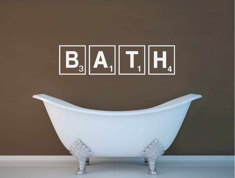 bath wall sticker multiple sizes