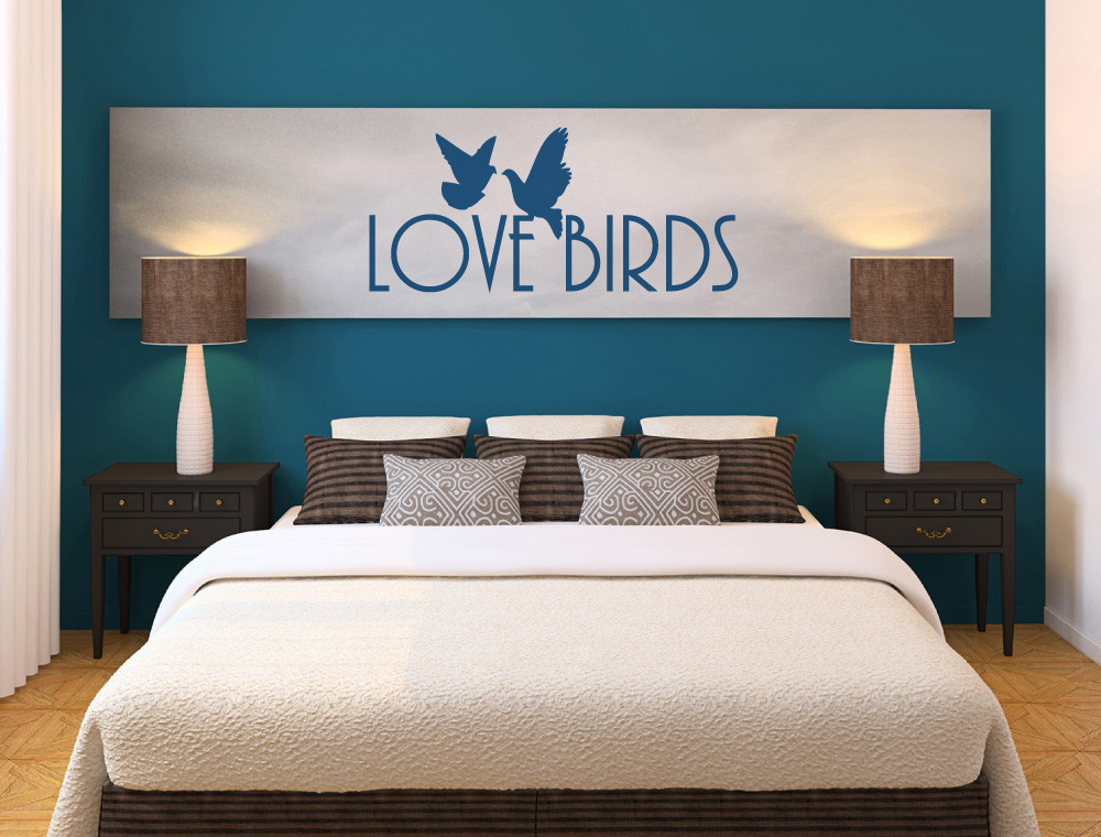 love birds wall sticker multiple sizes