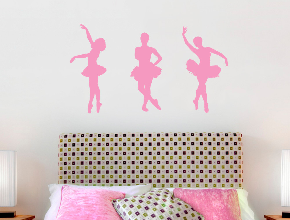 ballerina wall stickers pink
