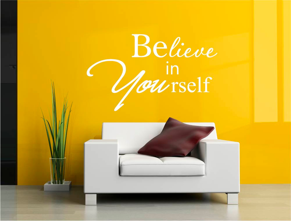believe in yourself wall decal white multiple sizes