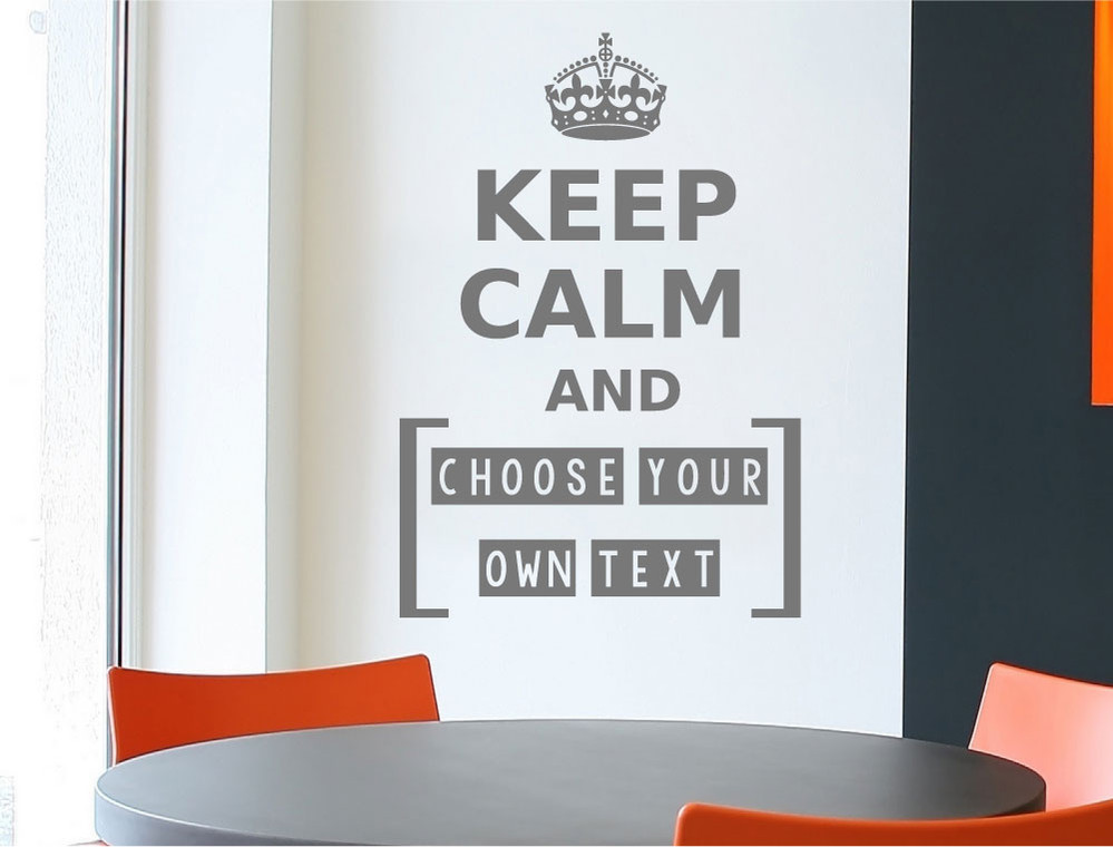 make your own keep calm wall sticker