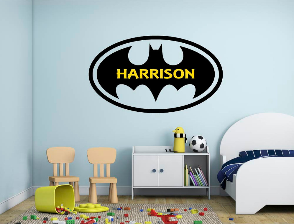 personalised superhero wall sticker