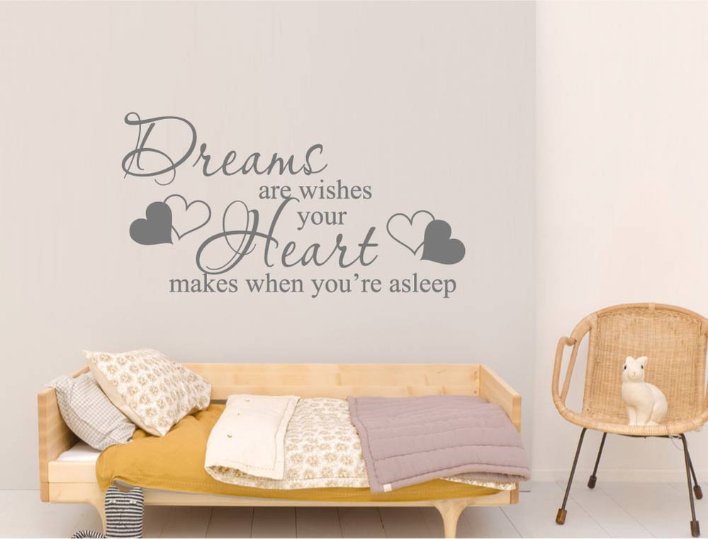 dreams-are-wishes-wall-sticker-quote
