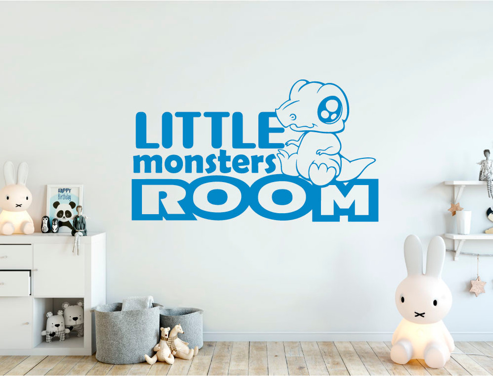little monsters room wall sticker multiple sizes