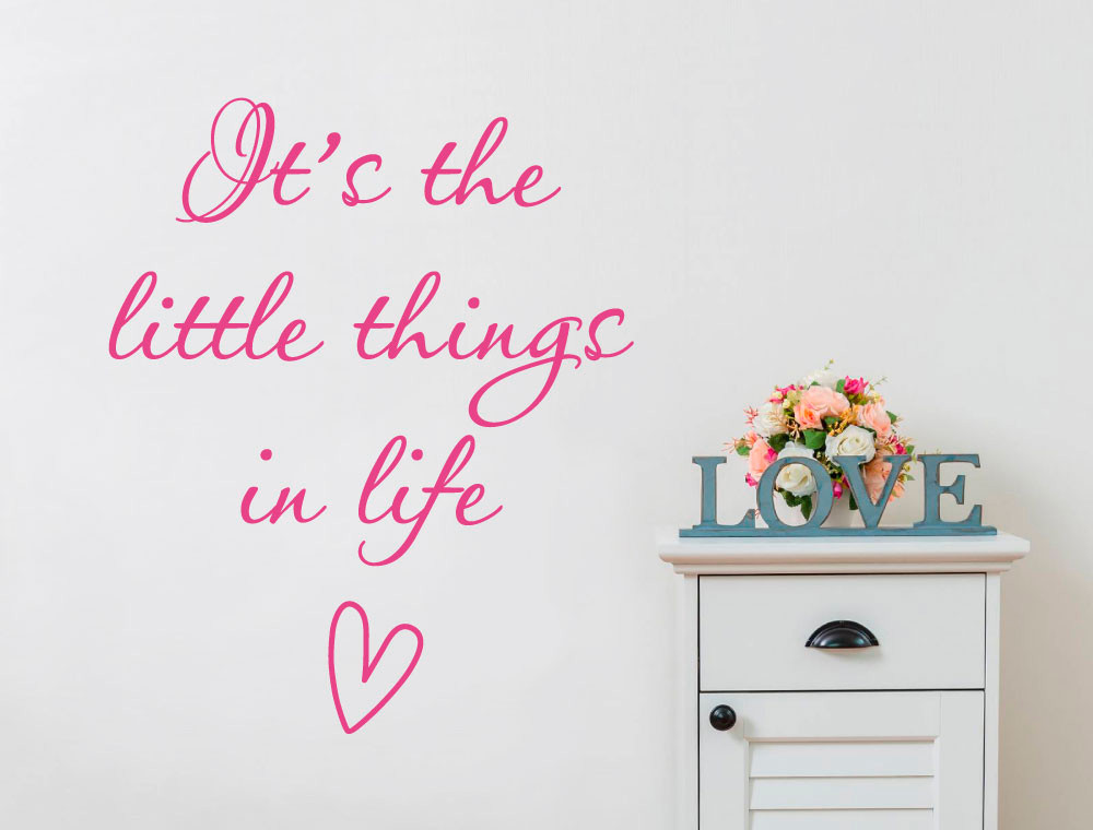 its the little things in life wall sticker multiple sizes