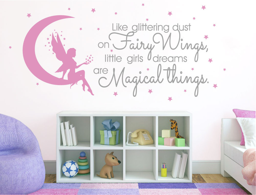 Adorable Fairy Wall Sticker ( Buy 2 Get 1 FREE mix and match )