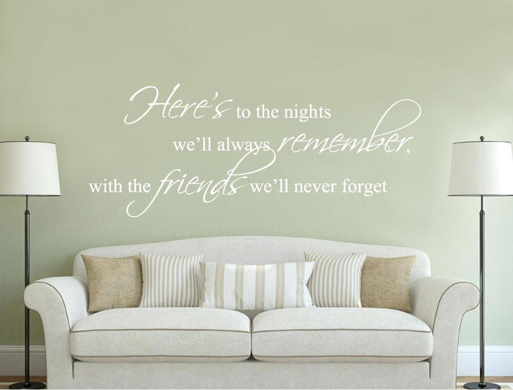 friends wall sticker quote white