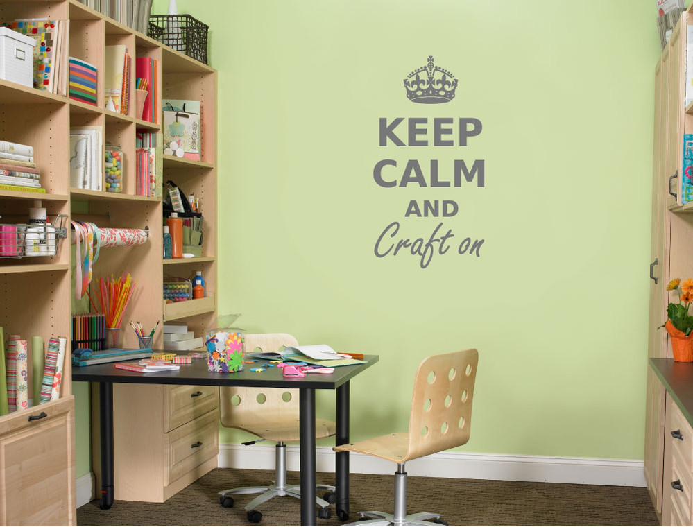 keep calm and craft on wall sticker