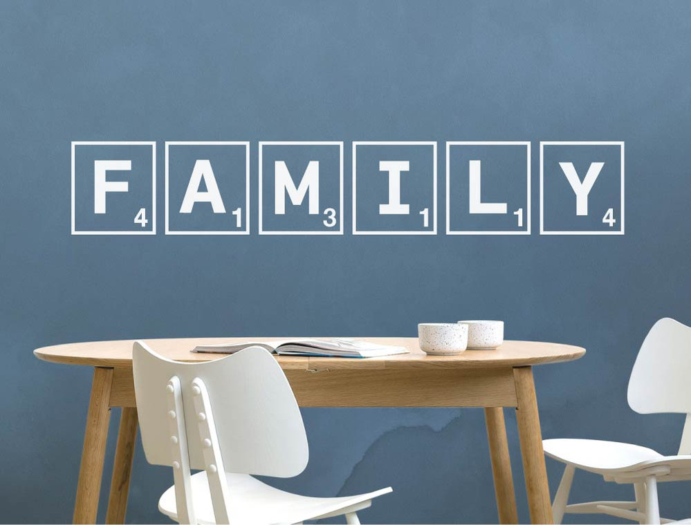 scrabble family wall art sticker