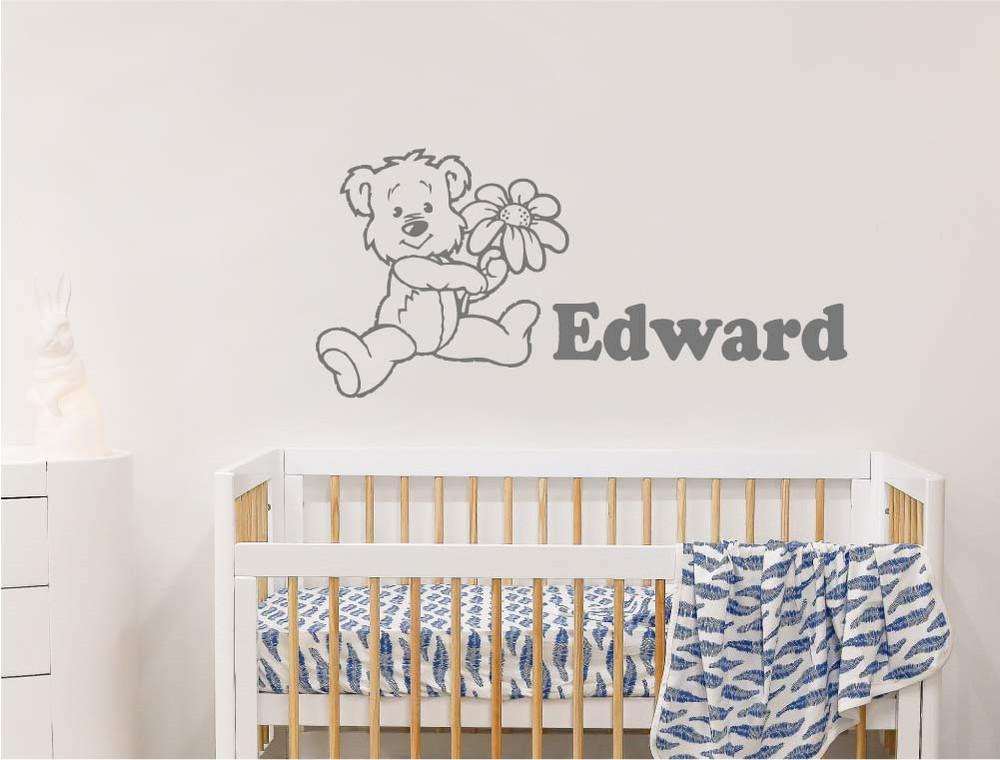 personalised-teddy-bear-wall-stickers