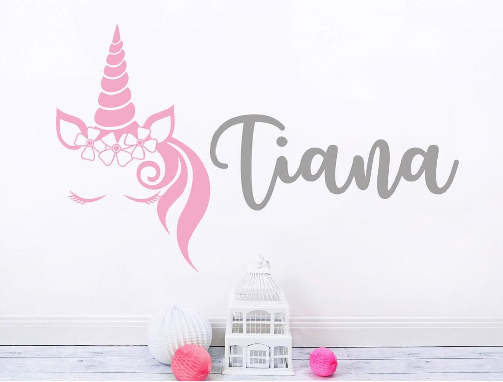 personalised-unicorn-wall-sticker