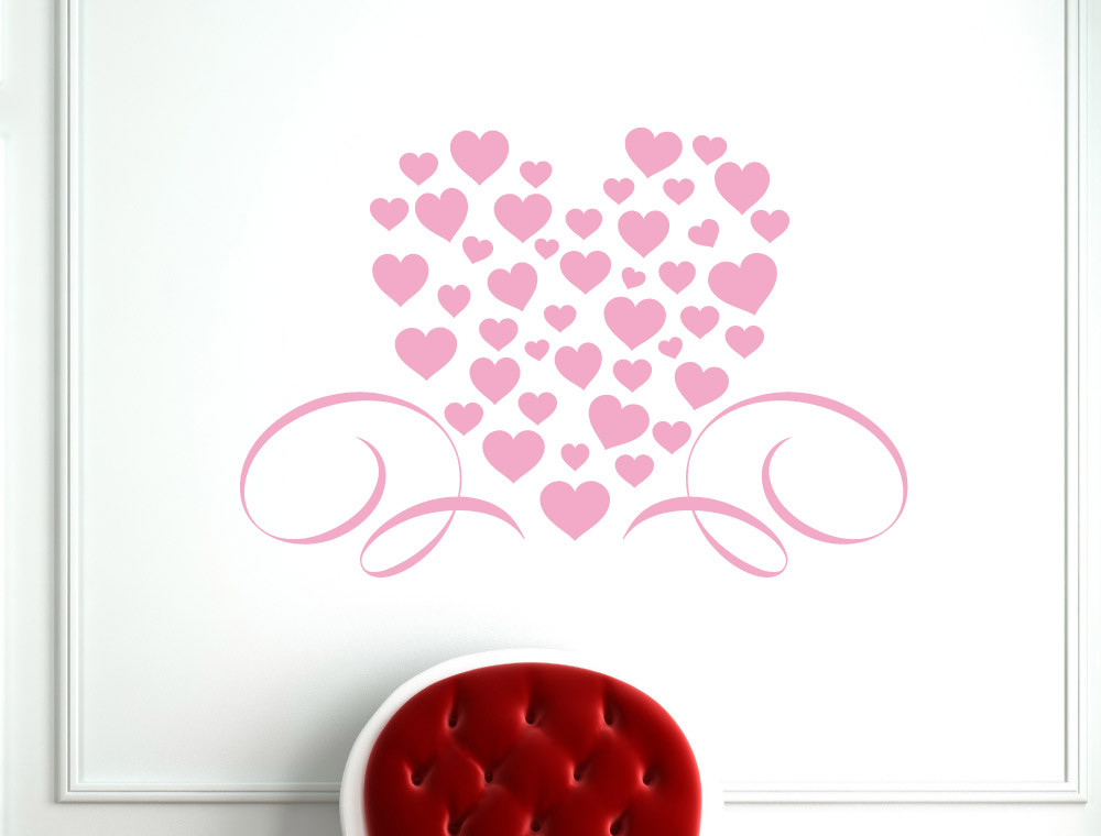 pink-hearts-wall-decal