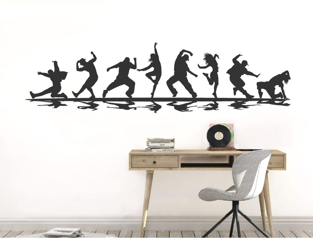 street-dance-wall-sticker-black