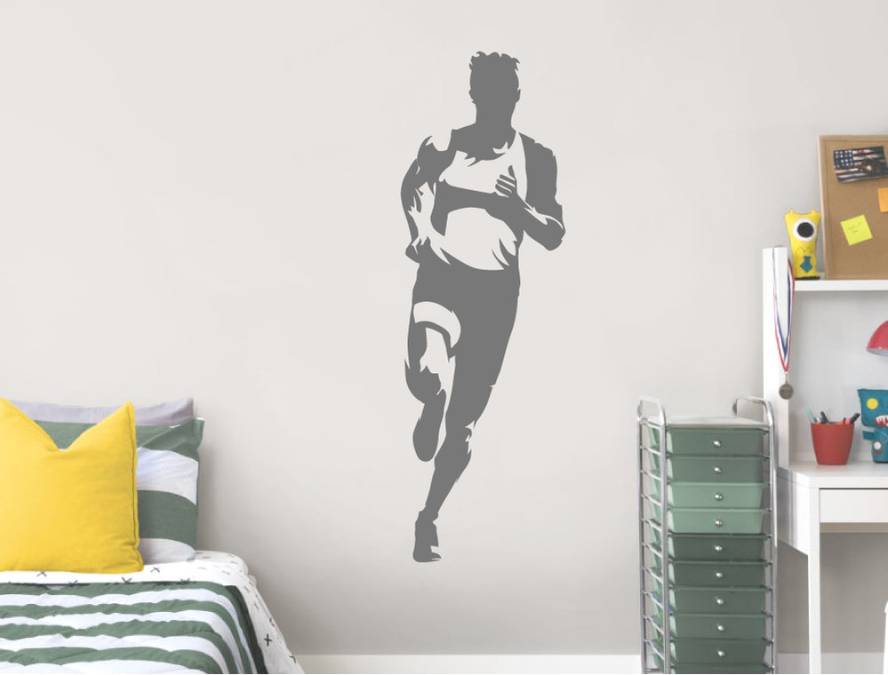 running-athlete-wall-sticker