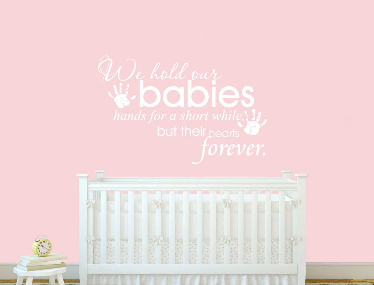 Baby room wall sticker quote