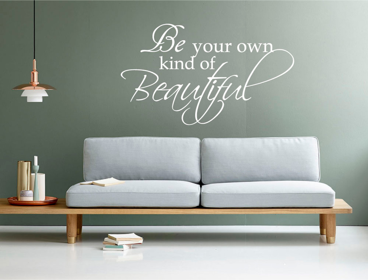 Kind of beautiful wall decal white sale