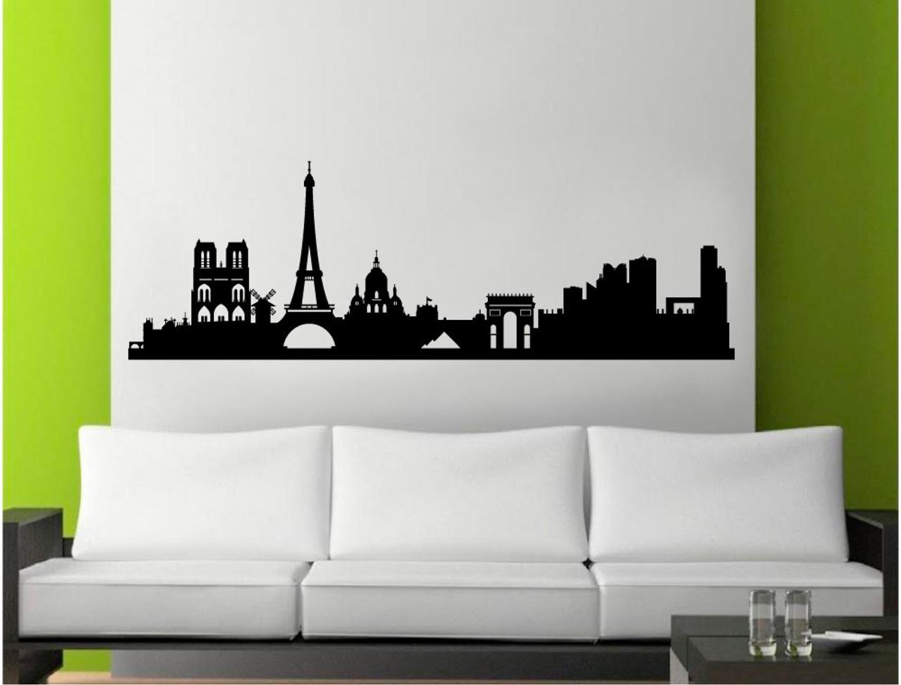 Paris wall sticker silhouette