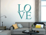 large love letters wall sticker