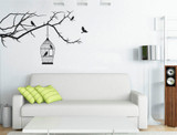 birdcage wall sticker black