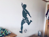 footballer wall sticker on wall
