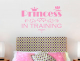 princess wall sticker pink