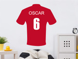 personalised-football-shirt-wall-sticker-red